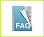 FAQs in a book icon